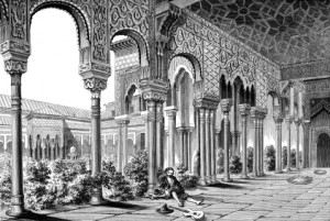 Alhambra Granada engraving